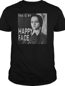 Wednesday Addams this is my happy face shirt