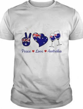 Wine peace love australia shirt