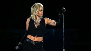 Miley Cyrus Belts Out Queen Hits at NCAA Final Four Concert