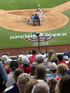 Though the good guys lost 6-2, their manager was glad to see fans in the seats.