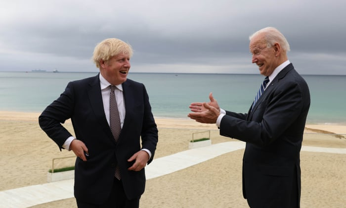 Boris Johnson plays down Brexit issues after G7 talks with Biden